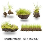 set green grass with earth... | Shutterstock . vector #514459537