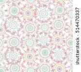 vector damask seamless pattern...   Shutterstock .eps vector #514470337
