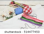 set for embroidery  embroidery... | Shutterstock . vector #514477453