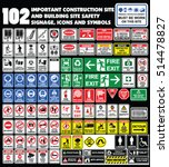 102 important construction site ... | Shutterstock .eps vector #514478827