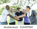 group of senior retirement... | Shutterstock . vector #514499587