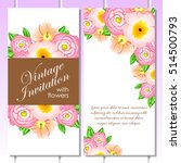 invitation with floral... | Shutterstock . vector #514500793