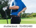 golfer back pain during a game  ... | Shutterstock . vector #514501483