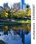 central park in the autumn  new ... | Shutterstock . vector #514504087