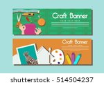 craft banner sets sewing and... | Shutterstock .eps vector #514504237