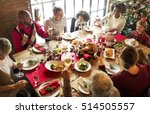 family together christmas... | Shutterstock . vector #514505557