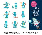 find the same robots. part 2.... | Shutterstock .eps vector #514509517