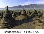 borobudur is a 9th century... | Shutterstock . vector #514537723