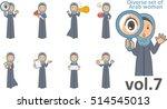 diverse set of arab woman  ...   Shutterstock .eps vector #514545013