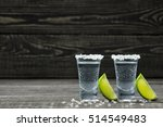 glasses cold silver tequila... | Shutterstock . vector #514549483