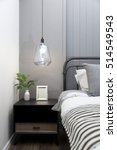 modern hanging lamp with... | Shutterstock . vector #514549543