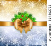 gold ribbon with bow and holy... | Shutterstock .eps vector #514563733