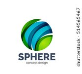 sphere abstract logo template. ... | Shutterstock . vector #514565467