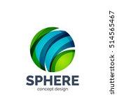 sphere abstract logo template. ... | Shutterstock . vector #514565467