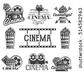 set of cinema labels and logos. ... | Shutterstock . vector #514582963