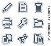 documents web icons set 1  deep ... | Shutterstock .eps vector #51458959