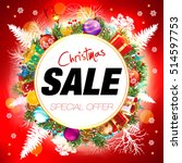 sale. christmas sale card. | Shutterstock .eps vector #514597753
