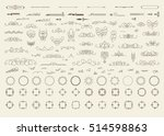 vintage decor elements and... | Shutterstock .eps vector #514598863