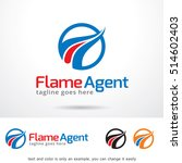 flame agent logo template... | Shutterstock .eps vector #514602403