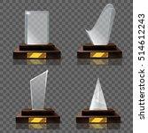 empty glass trophy awards...   Shutterstock .eps vector #514612243
