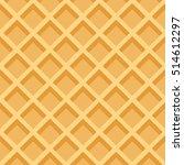 waffles seamless vector pattern.... | Shutterstock .eps vector #514612297