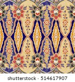 seamless floral beautiful batik ... | Shutterstock . vector #514617907