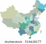 blue circle shape china and... | Shutterstock .eps vector #514618177