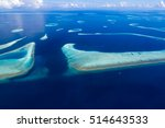 aerial view of maldives atolls... | Shutterstock . vector #514643533