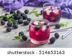 refreshing lemonade with... | Shutterstock . vector #514653163