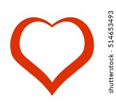red heart. icon. vector design | Shutterstock .eps vector #514653493