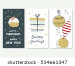 merry christmas and happy new... | Shutterstock .eps vector #514661347