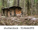 hunting lodge in the forest. | Shutterstock . vector #514666393
