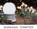 rustic image of an empty snow... | Shutterstock . vector #514667323