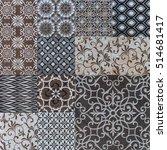 abstract mosaic tiles | Shutterstock . vector #514681417