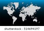 world map vector in gradient... | Shutterstock .eps vector #514694197