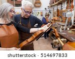 group of mature violin maker in ... | Shutterstock . vector #514697833