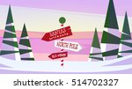 winter christmas new year... | Shutterstock .eps vector #514702327