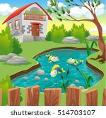 Fish Pond Vector