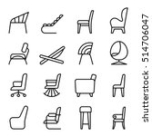 chair icon set in side view... | Shutterstock .eps vector #514706047