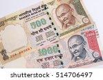 india banknote. india rupee 500 ... | Shutterstock . vector #514706497
