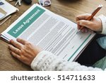 lease renting contract... | Shutterstock . vector #514711633