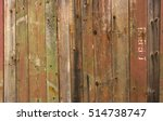 Texture Wooden Fence With...