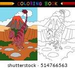 cartoon velociraptor coloring... | Shutterstock .eps vector #514766563