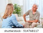 senior man with social worker. | Shutterstock . vector #514768117