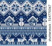 christmas seamless pattern with ... | Shutterstock .eps vector #514770367