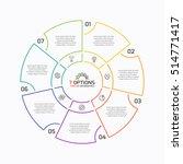 thin line pie chart infographic ...   Shutterstock .eps vector #514771417