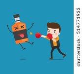 man punching liquor bottles to...   Shutterstock .eps vector #514771933