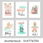 merry christmas greeting card... | Shutterstock .eps vector #514776703