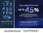 set fashion numerals with blue... | Shutterstock .eps vector #514799437