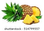 pineapple isolated on white... | Shutterstock . vector #514799557